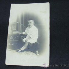Fotografía antigua: TIPO TARJETA POSTAL - NIÑO POSANDO - J. FABREGAT - . Lote 24592666