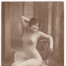 Fotografía antigua: ERÓTICA, DESNUDO FEMENINO, POSTAL FOTOGRÁFICA 1920'S.. Lote 25061121