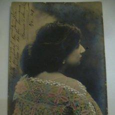 Fotografía antigua: BONITA TARJETA POSTAL CIRCULADA EN 1907. Lote 26997932