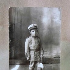 Fotografía antigua: MUY ANTIGUA FOTO, POSTAL, NIÑO 7 AÑOS, 1913, ESTUDIO, MARINO. Lote 25763210