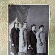 Fotografía antigua: FOTO POSTAL, FOTOGRAFIA, RETRATO DE 4 MUJERES, 13 X 8 CM, FOTO LEON, VALENCIA, PUERTO DE SAGUNTO, FO. Lote 25768818
