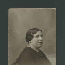 Fotografía antigua: BELLÍSIMO RETRATO DE MUJER. FOT. RAPHAEL. BARCELONA. CIRCA 1910.. Lote 26283532
