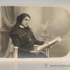 Fotografía antigua: TARJETA POSTAL FOTOGRÁFICA, RETRATO FEMENINO, FOTO: BANÚS (BARCELONA). Lote 26249116