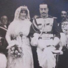 Fotografía antigua: FOTO BODA DE OFICIAL DE CABALLERIA DE LA GUARDIA REAL, DE ALFONSO XIII.. Lote 116213380