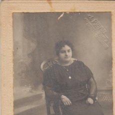 Fotografía antigua: SEÑORA SENTADA. J. RIBAS. FOTOGRAFO. ALICANTE ¿1930?. Lote 27572741