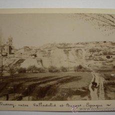 Fotografía antigua: 83 DUEÑAS PALENCIA RARISIMA FOTOGRAFIA APOSTALADA AÑO 1860 AUGUSTE MURIEL - PIEZA UNICA. Lote 28138142