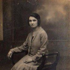 Fotografía antigua: FOTOGRAFIA POSTAL DEL FOTOGRAFO DE BARCELONA VALLES RAMBLA DE LA FLORES, 32. Lote 28197266