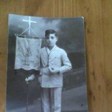 Fotografía antigua: ANTIGUA TARJETA POSTAL FOTOGRAFICA 1ª COMUNION RAFAEL MARTINEZ ALCANTARILLA MURCIA. Lote 28363912