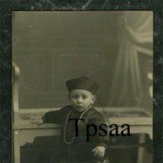 Photographie ancienne: POSTAL FOTOGRAFICA NIÑO PRINCIPIOS DE SIGLO FOTO TORRES GRANADA. Lote 28503896