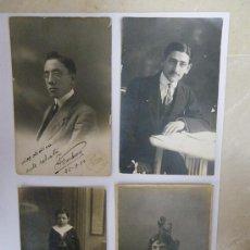 Fotografía antigua: 4 RETRATOS (UNO DE 1910, OTRO DE 1914 Y LOS OTROS SIN FECHA). Lote 29610319