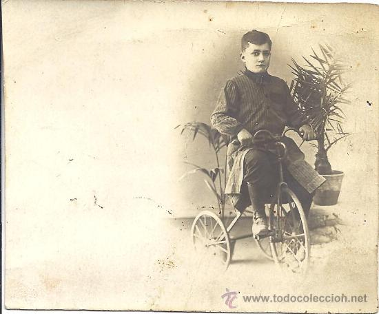 PS2797 TARJETA POSTAL DE NIÑO EN TRICICLO. ESCRITA AL DORSO PERO SIN FECHAR (Fotografía Antigua - Tarjeta Postal)