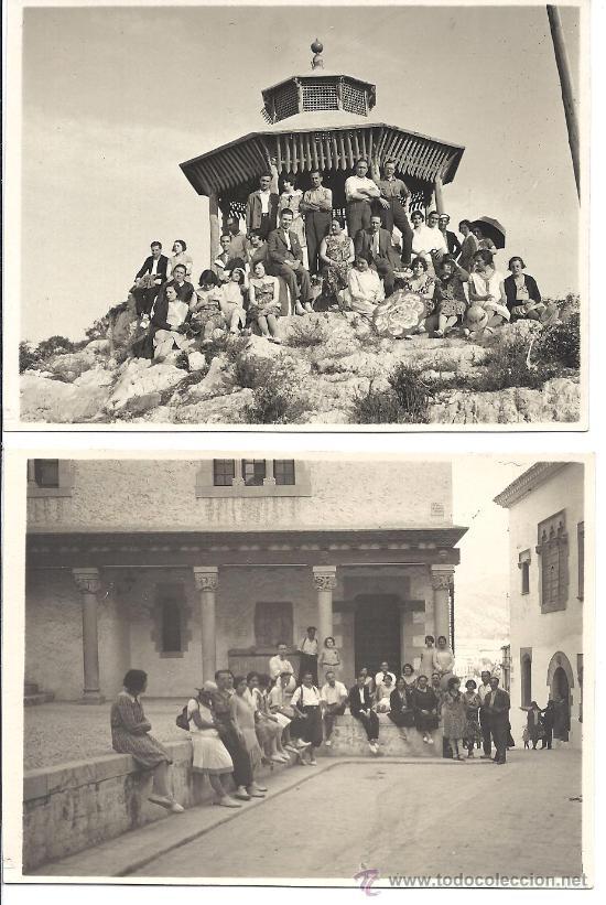 PS2800 LOTE DE 4 TARJETAS POSTALES DE EXCURSIÓN DE GRUPO A SITGES. 2 DE JUNIO DE 1929 (Fotografía Antigua - Tarjeta Postal)
