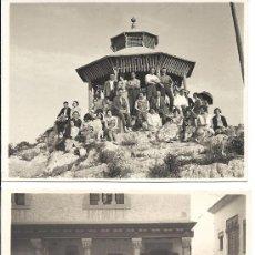 Fotografía antigua: PS2800 LOTE DE 4 TARJETAS POSTALES DE EXCURSIÓN DE GRUPO A SITGES. 2 DE JUNIO DE 1929. Lote 29750620