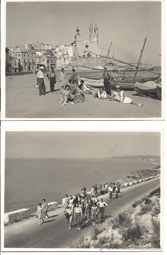 Fotografía antigua: PS2800 LOTE DE 4 TARJETAS POSTALES DE EXCURSIÓN DE GRUPO A SITGES. 2 DE JUNIO DE 1929 - Foto 2 - 29750620