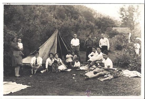 PS2801 TARJETA POSTAL DE ACAMPADA EN VALLDENEU (BARCELONA). 24-25 DE MAYO DE 1931 (Fotografía Antigua - Tarjeta Postal)
