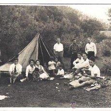 Fotografía antigua: PS2801 TARJETA POSTAL DE ACAMPADA EN VALLDENEU (BARCELONA). 24-25 DE MAYO DE 1931. Lote 29750648