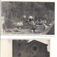 Fotografía antigua: PS2802 LOTE DE DOS TARJETAS POSTALES DE ACAMPADA EN VALLDENEU (BARCELONA). 19-20 DE MAYO DE 1929. Lote 29750662