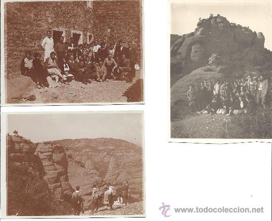 PS2803 LOTE DE 3 POSTALES DE EXCURSIÓN A SANT LLORENÇ DE MUNT (BARCELONA). 7 DE ABRIL DE 1929 (Fotografía Antigua - Tarjeta Postal)