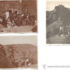 Fotografía antigua: PS2803 LOTE DE 3 POSTALES DE EXCURSIÓN A SANT LLORENÇ DE MUNT (BARCELONA). 7 DE ABRIL DE 1929. Lote 29750688