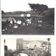 Fotografía antigua: PS2805 LOTE DE 2 POSTALES DE EXCURSIÓN A TORRELLES (BARCELONA). 20 DE SEPT. DE 1931. Lote 29750762