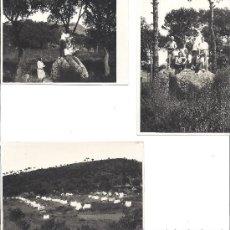 Fotografía antigua: PS2806 LOTE DE 3 POSTALES DE VISITA AL CAMPAMENTO DE CAN BUQUET (BARCELONA). 22 DE SEPT. DE 1929. Lote 29750782