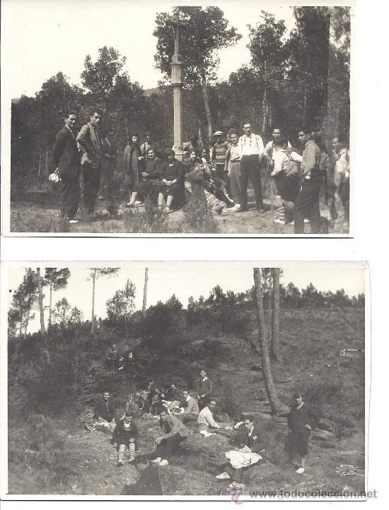 PS2799 LOTE DE DOS TARJETAS POSTALES DE EXCURSIÓN A CERVELLÓ (BARCELONA). 30 DE MARZO DE 1930 (Fotografía Antigua - Tarjeta Postal)