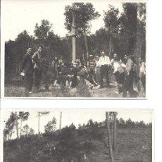 Fotografía antigua: PS2799 LOTE DE DOS TARJETAS POSTALES DE EXCURSIÓN A CERVELLÓ (BARCELONA). 30 DE MARZO DE 1930. Lote 29750810