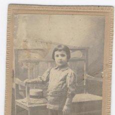 Fotografía antigua: TARJETA POSTAL DE NIÑO. FOTÓGRAFO LUIS GÓMEZ. GRANADA. Lote 29837425