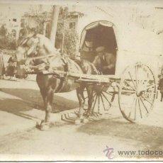 Fotografía antigua: PS1001 POSTAL FOTOGRÁFICA DE CARRO DE CABALLOS. Lote 31265670