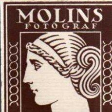 Fotografía antigua: CARTÓN PUBLICITARIO DE MOLINS FOTOGRAF - SABADELL. Lote 31560172