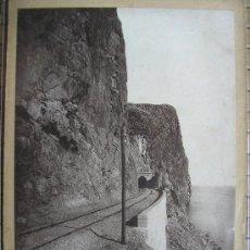 Fotografía antigua: FOTOGRAFIA ALBUMINA FERROCARRIL BARCELONA VILANOVA SORTIDA DEL TUNEL DE FALCONERA 1881 C-48. Lote 32081614