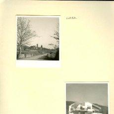 Fotografía antigua: F0043 LLORÀ GIRONA GERONA DOS FOTOGRAFÍAS ANTIGUAS PUEBLO CHALÉ. Lote 32797770