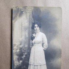 Fotografía antigua: MUJER, WOMAN, FEMME, UNION POSTALE UNIVERSELLE. URUGUAY. Lote 33519477
