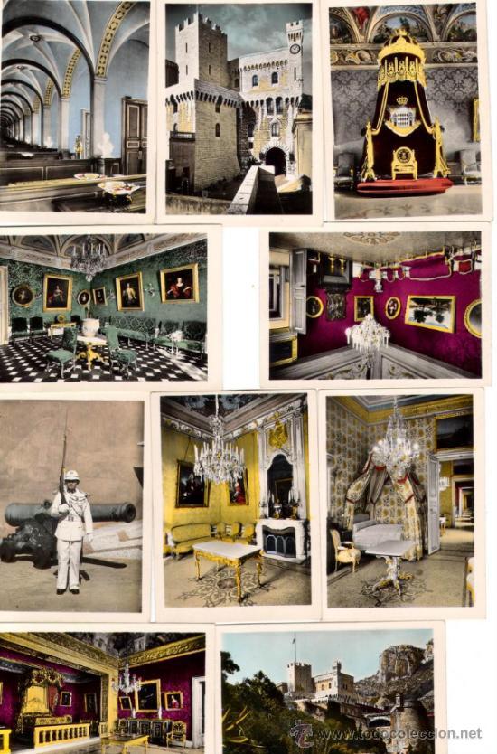 PALACIO DEL PRINCIPADO DE MONACO - FOTOS OFICIALES DE LOS AÑOS SESENTA (Fotografía Antigua - Tarjeta Postal)
