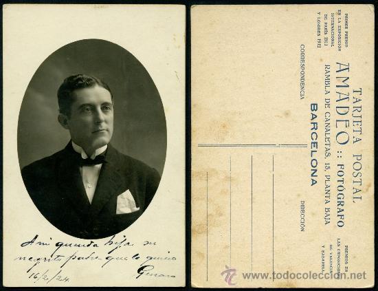 FOTO TARJETA POSTAL 1924 – CABALLERO (Fotografía Antigua - Tarjeta Postal)