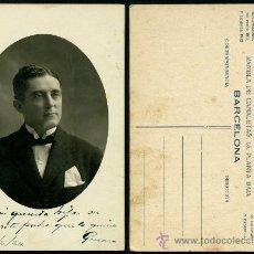 Fotografía antigua: FOTO TARJETA POSTAL 1924 – CABALLERO. Lote 34612504