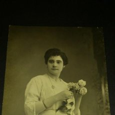 Fotografía antigua: ANTIGUA FOTOGRAFIA TARJETA POSTAL ESCRITA PINOSO ALICANTE 1912. Lote 34937348
