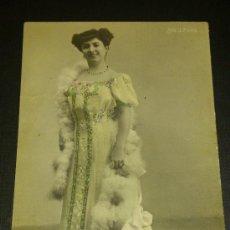 Fotografía antigua: ANTIGUA FOTOGRAFIA TARJETA POSTAL SEÑORITA J. PONS ESCRITA A ALHAMA 1918. Lote 34942741