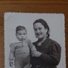 Fotografía antigua: ANTIGUA FOTOGRAFIA TARJETA POSTAL MUJER Y NIÑO RETRATOS ESPARZA VALENCIA. Lote 34956385