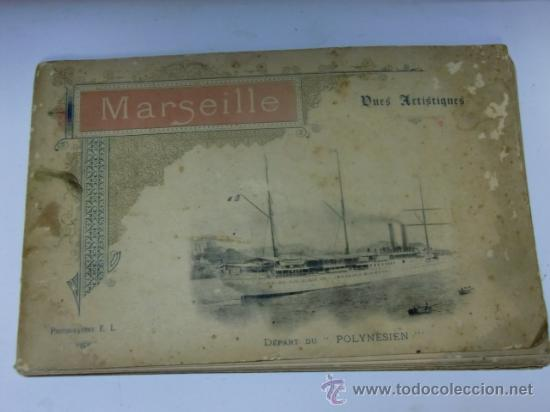 FOTOGRABADOS ANTIGUOS DE MARSELLA. MARSEILLE VISTAS ARTÍSTIAS PHOTOGRAVURE E.L (Fotografía Antigua - Tarjeta Postal)