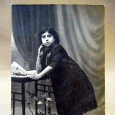 Fotografía antigua: TARJETA POSTAL, FOTOGRAFIA, CHICA, UNION POSTALE. Lote 35460101