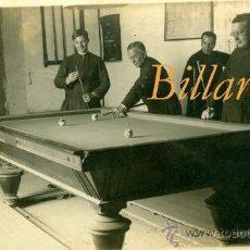 Fotografía antigua: BILLAR - 1930'S - POSTAL FOTOGRÁFICA . Lote 35504212
