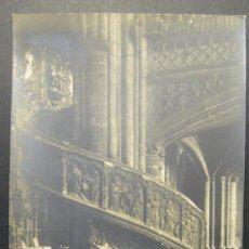 Fotografía antigua: ESCALERA DEL CORO. IGLESIA DE SANTA MARIA. MORELLA. CASTELLÓN. FOTOGRAFIA. 14 X 9 CM. HACIA 1910. Lote 35537163