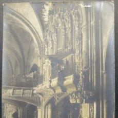 Fotografía antigua: ORGANO.IGLESIA DE SANTA MARIA. MORELLA. CASTELLÓN. FOTOGRAFIA. 14 X 9 CM. HACIA 1910. Lote 35537268