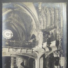 Fotografía antigua: INTERIOR. ORGANO.IGLESIA DE SANTA MARIA. MORELLA. CASTELLÓN. FOTOGRAFIA. 14 X 9 CM. HACIA 1910. Lote 35537297
