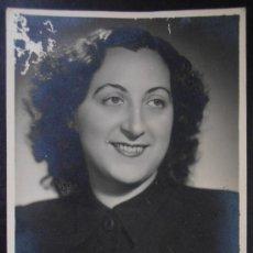 Fotografía antigua: FOTOGRAFIA/TARJETA POSTAL, RETRATO DE MUJER, VALENCIA, (323). Lote 36155612
