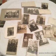 Fotografía antigua: LOTE DE 18 FOTOGRAFIAS ANTIGUAS. Lote 36320273