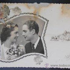 Fotografía antigua: FOTOGRAFIA/TARJETA POSTAL, RETRATO DE ENAMORADOS, VALENCIA 1947, (1146) . Lote 36429625