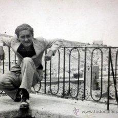 Fotografía antigua: FOTOGRAFIA. TARJETA POSTAL, TERRAZA DEL TAJO, TOLEDO, 1935. Lote 37118322
