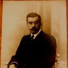 Fotografía antigua: FOTO POSTAL CABALLERO AÑOS 40-50. Lote 37282095